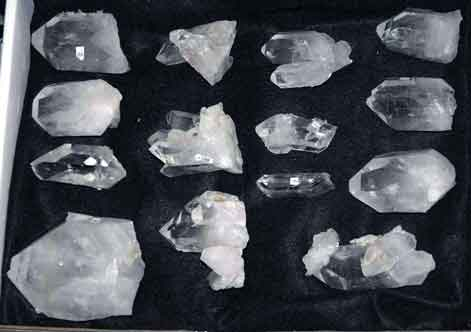 Quartz Crystals - Mt  Ida, Arkansas - Natural clusters
